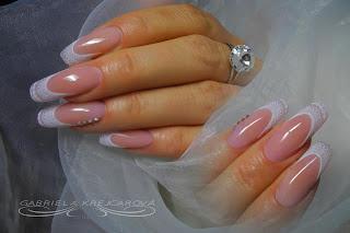 paznokcie ślubne, paznokcie na ślub, paznokcie panny młodej,