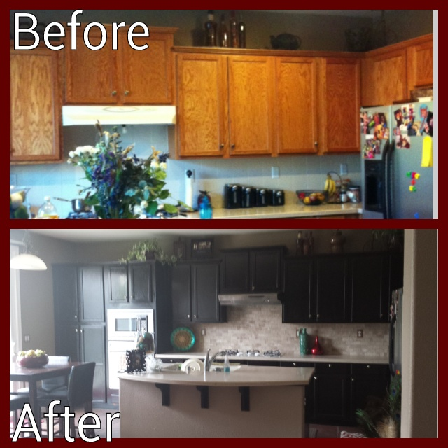 While They Sleep Diy Project Kitchen Revamp Ta Da