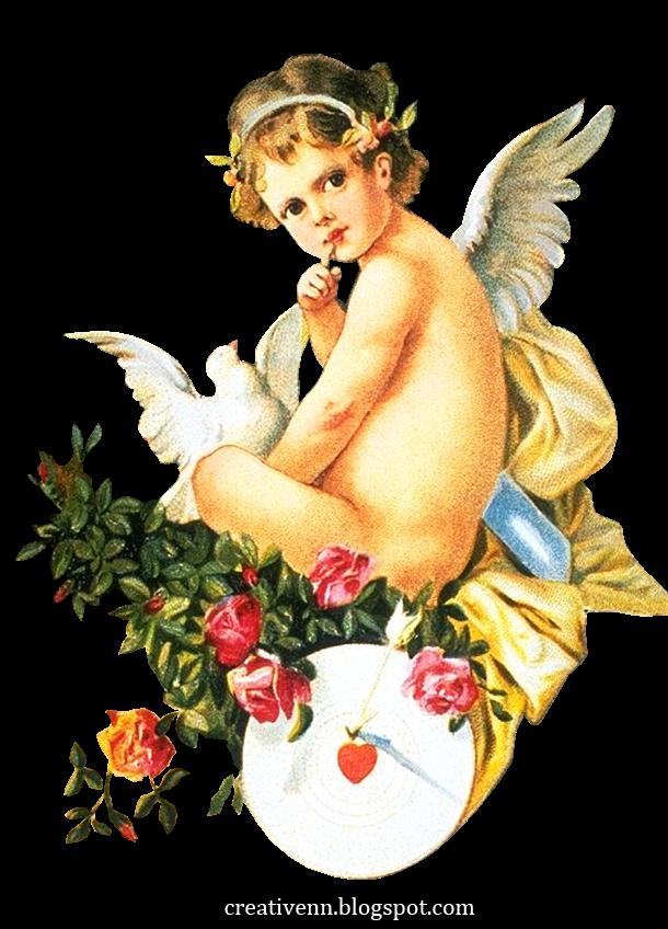 Картинки для декупажа с ангелами 55