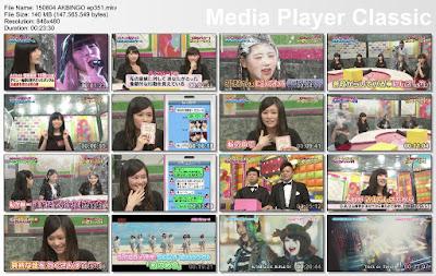 Download 150804 AKBINGO! Ep 351 Subtitle Indonesia