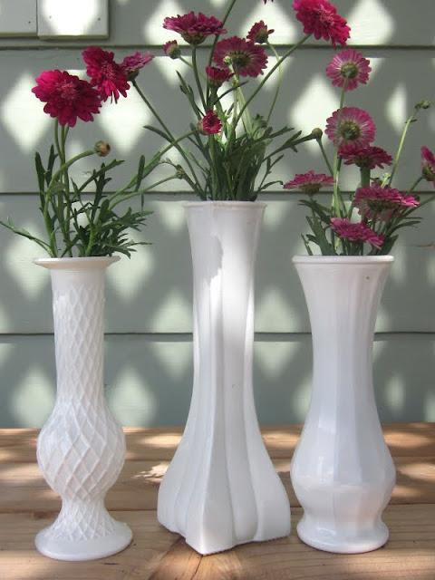 homespun with love diy milk glass vases. Black Bedroom Furniture Sets. Home Design Ideas