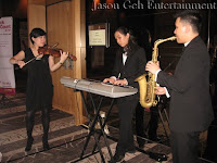 The Jazz Trio performing during the cocktail session