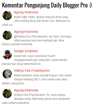 Optimalkan Fitur Komentar di Blog Dengan Widget Recent Comments