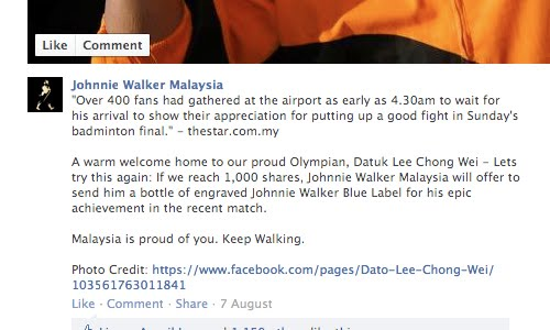 johnnie walker facebook
