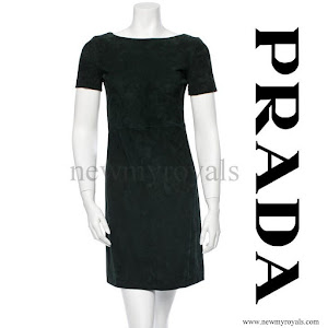 Princess Mary Prada suede cocktail dress