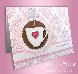 Latte valentine, designed by Grace Baxter