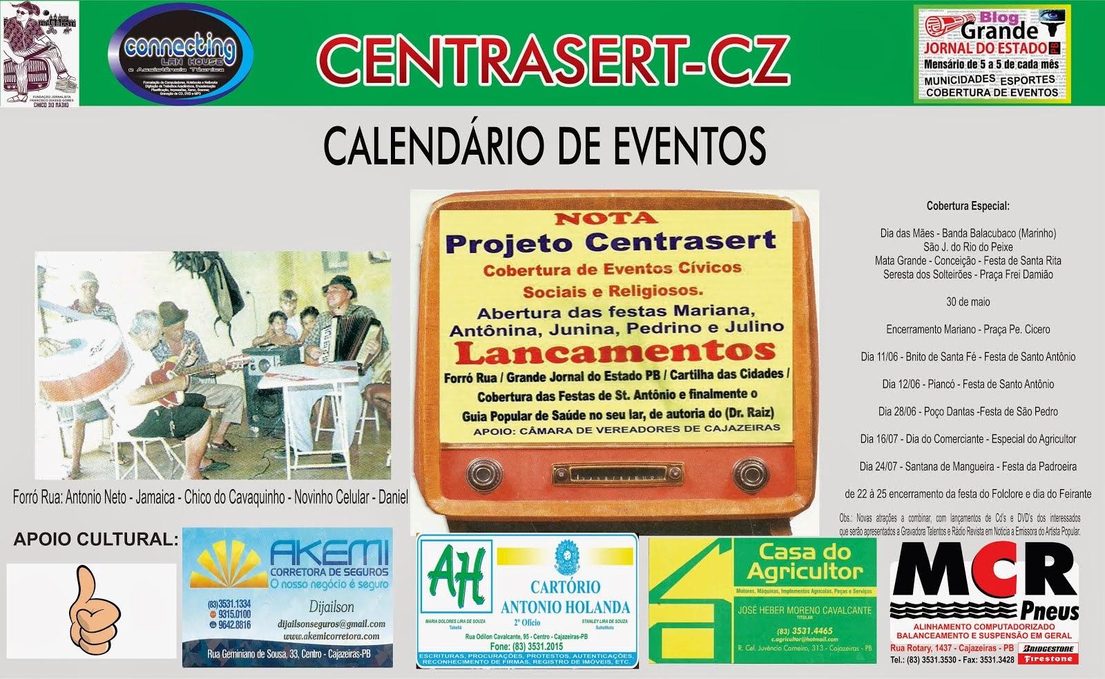 LANÇAMENTOS DE NOSSAS ATIVIDADES  NA REGIÃO DE CAJAZEIRAS PB