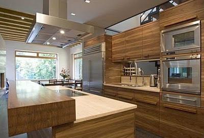 Decora el hogar modernas cocinas de madera - Cocinas modernas madera ...