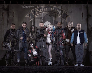 Suicide Squad movie cast in costume