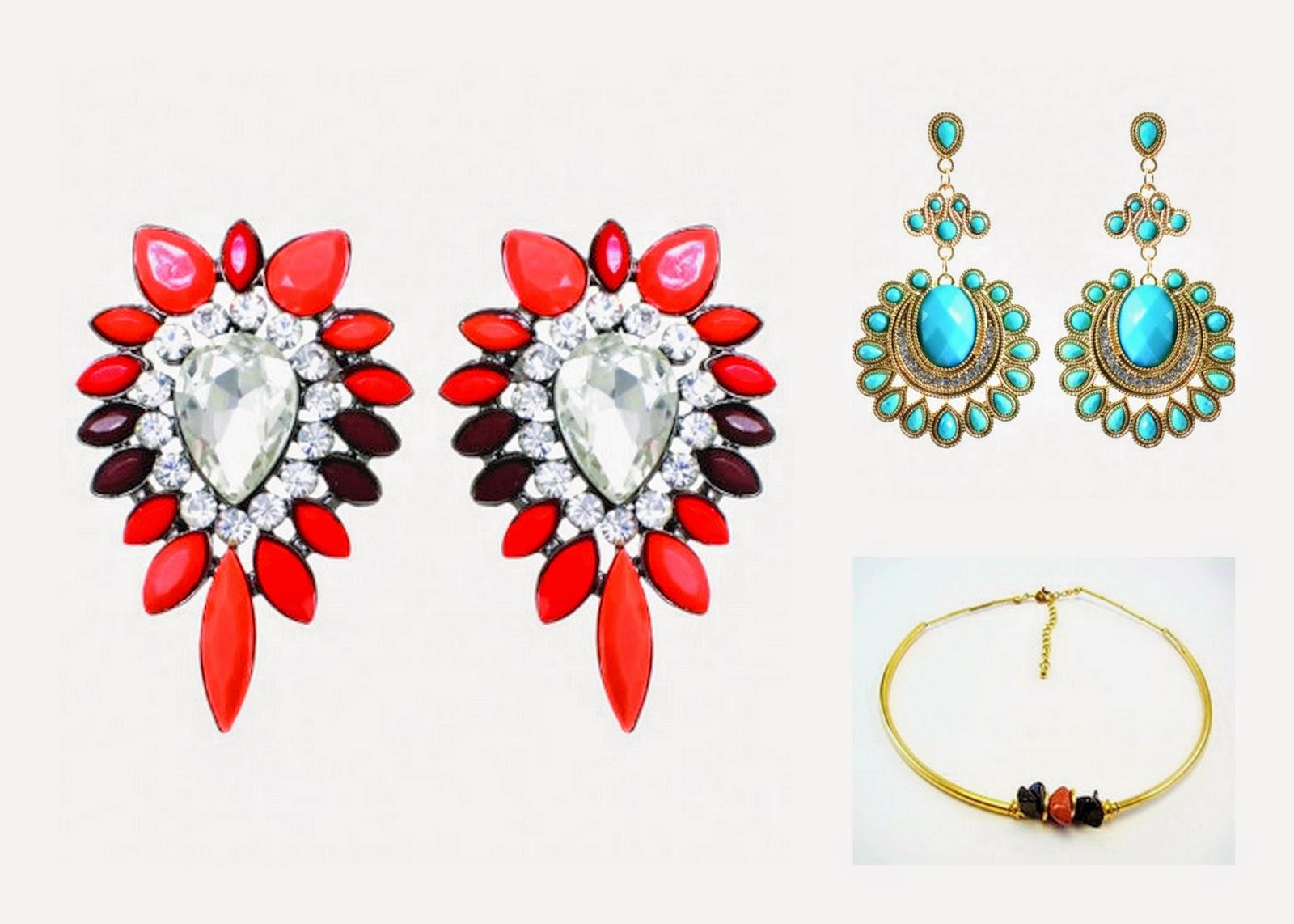 Jewelry Haul: MyVintageSpirit vintage choker necklace statement earrings www.sandysandhu.co