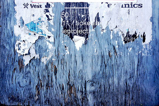 urban photography, urban decay, photo, Sam Freek, blue cracked paint,