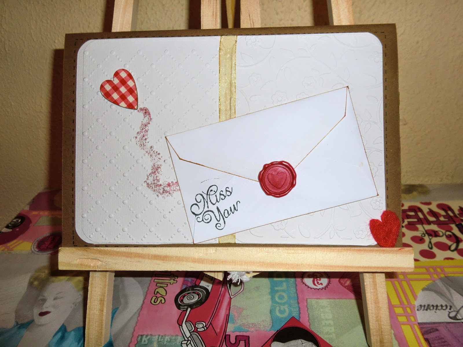 Primer plano de tarjeta Miss you