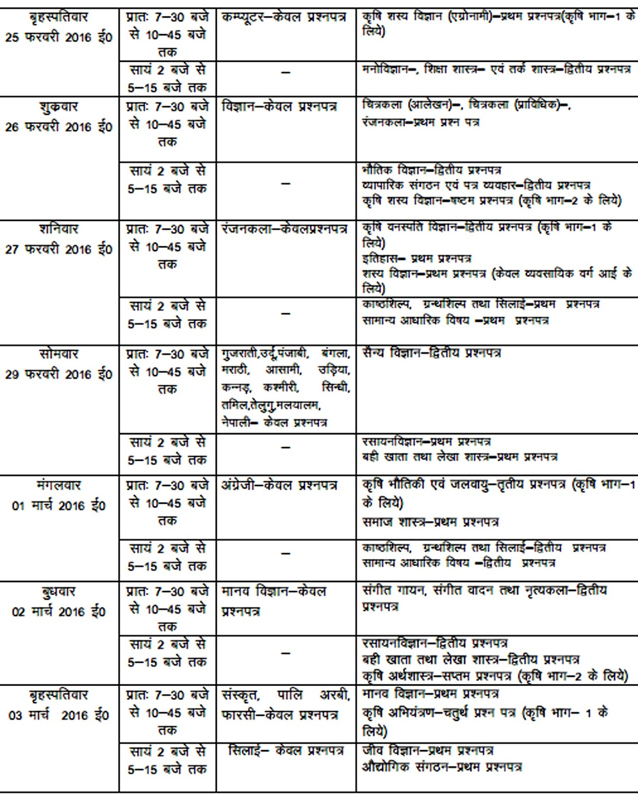 Up board matric date sheet 2018 download up high school for Up board 10th time table