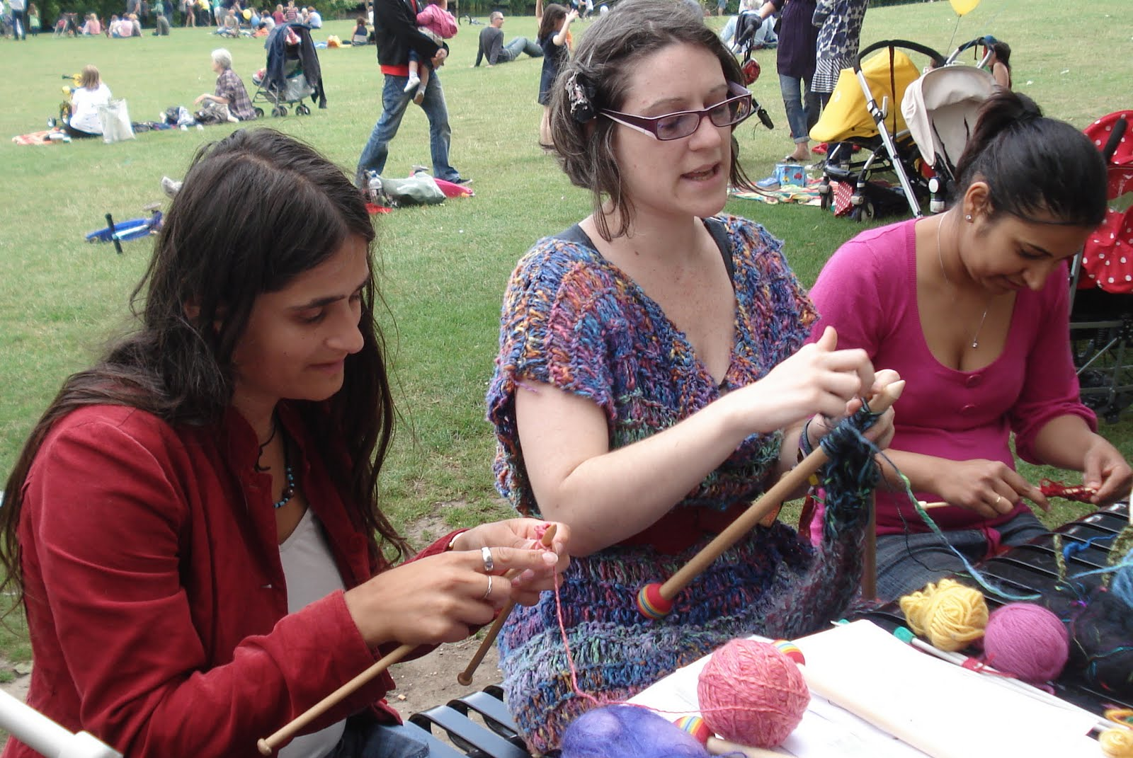 Knitting at Manor House Park