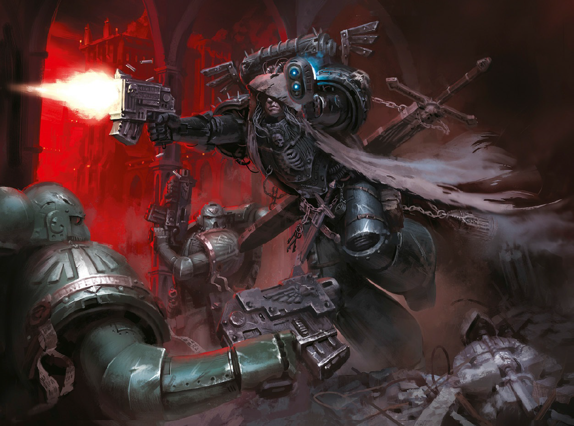 Tyler Over The Course Of Trilogy You Got To Write Pretty Much Every Major Player In Dark Angels Stable Including Cypher