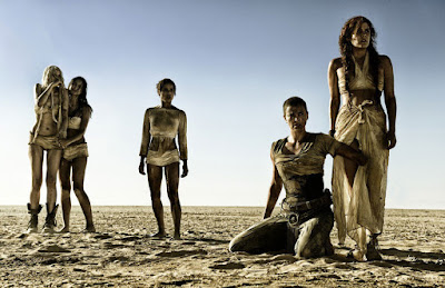 Zoe Kravitz, Charlize Theron, Riley Keough, Courtney Eaton, and Abbey Lee in Mad Max Fury Road