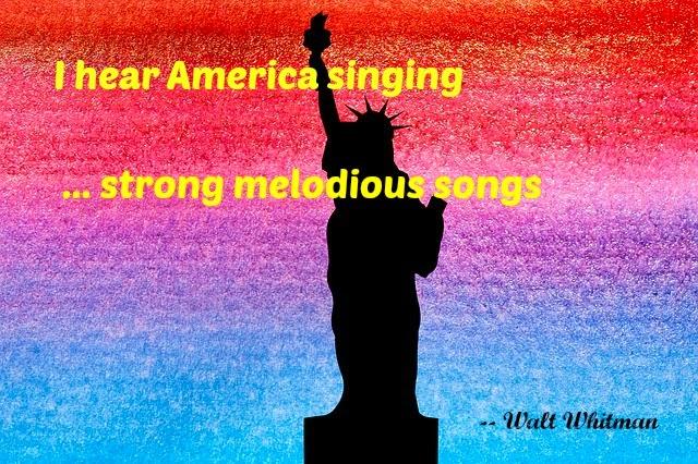 Statue of Liberty America Singing