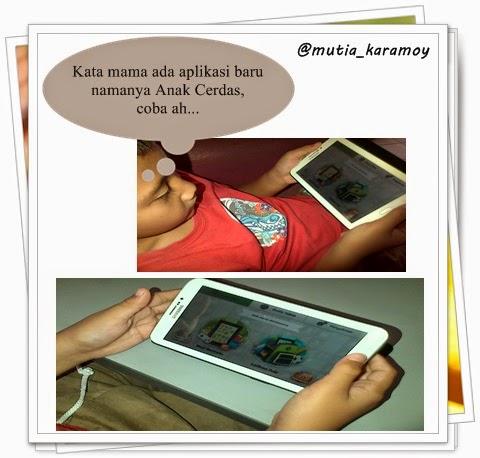 Menggunakan aplikasi anak cerdas