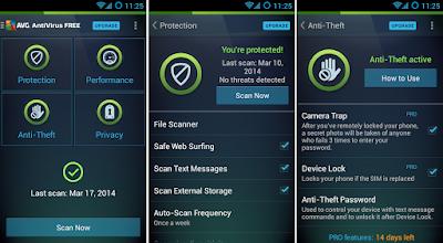 Aplikasi Antivirus Android Terbaik - AVG AntiVirus Free