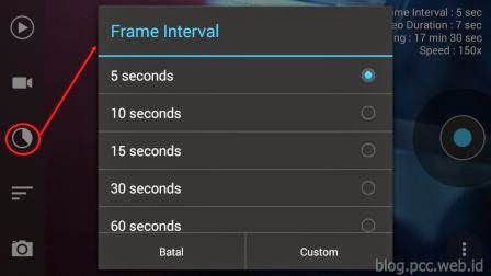 Tutorial Frame Lapse Menu Pengaturan Frame Interval