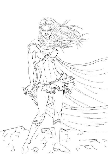 Dessin de Evil Super Girl ou Bad Super Girl