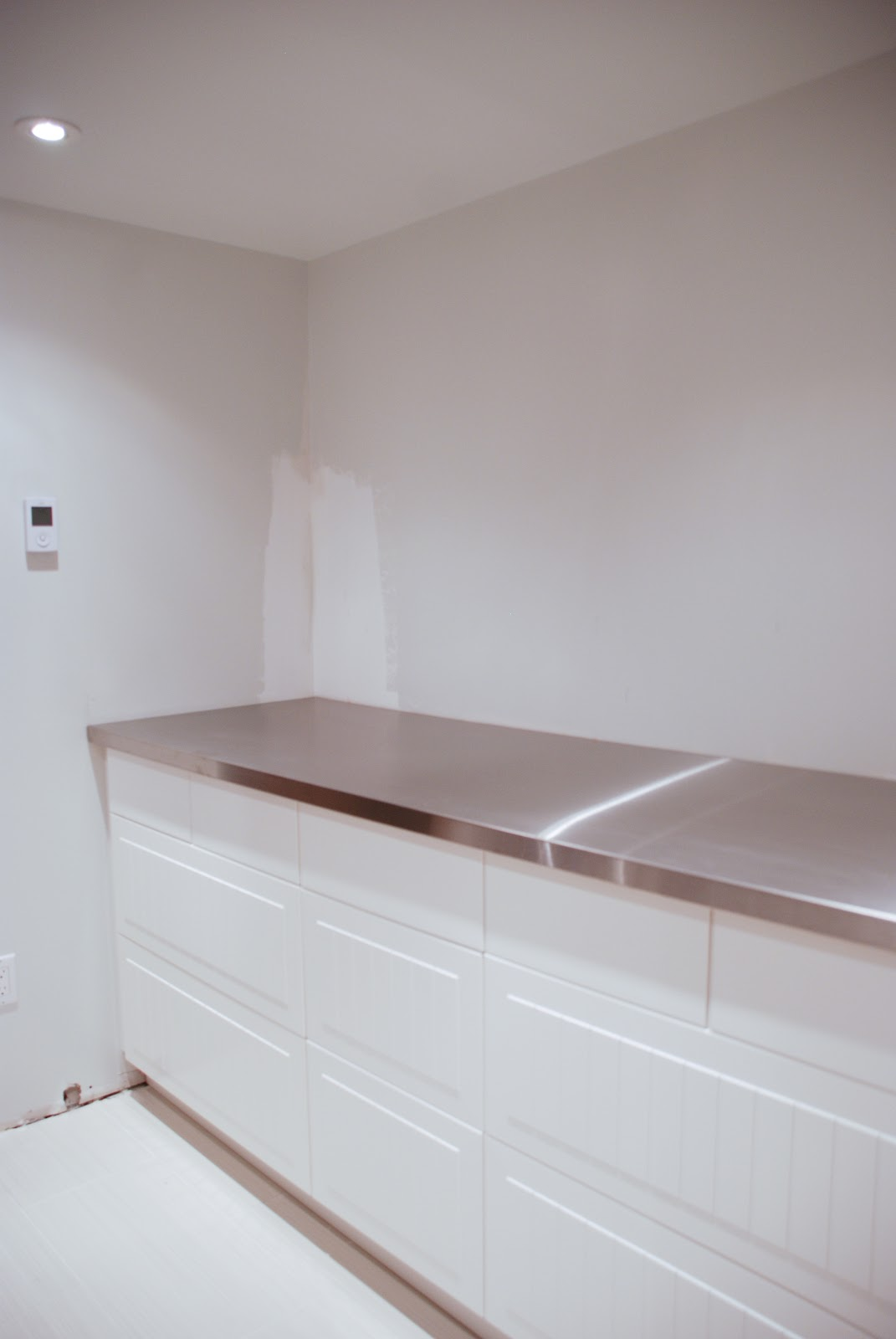 Make Stainless Steel Countertop How To Support A Countertop Rambling Renovators