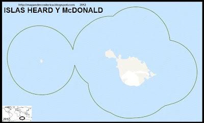 ISLAS HEARD Y McDONALD, Mapa de Las ISLAS HEARD Y McDONALD, OpenStreetMap