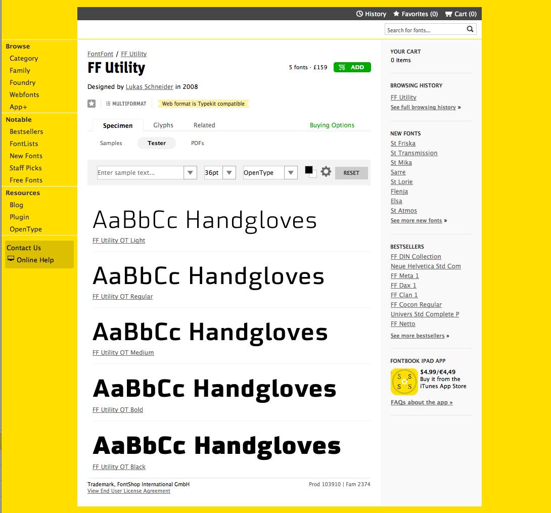 FF Utility - New Font