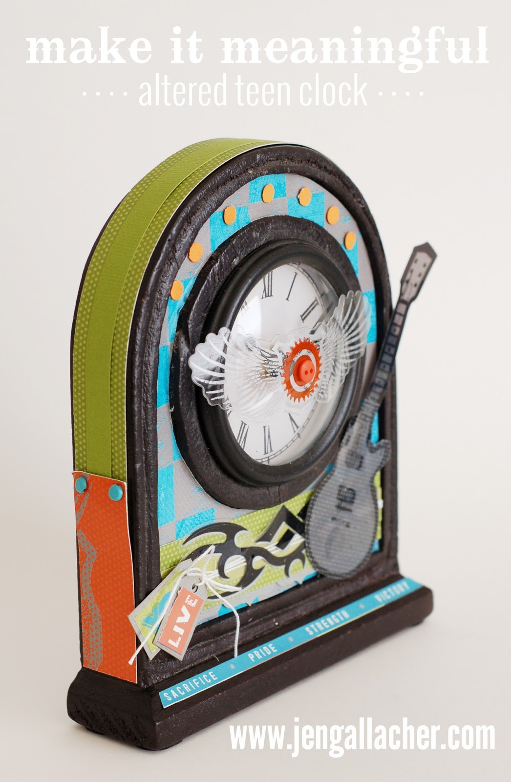 Make It Meaningful: Altered Teen Clock by Jen Gallacher at www.jengallacher.com