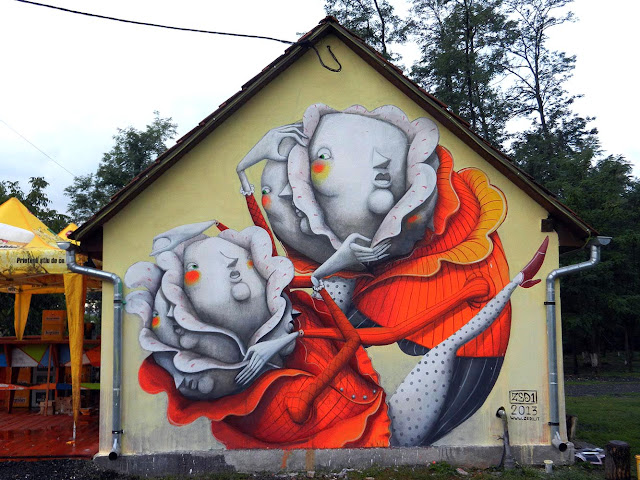 Street Art By ZED1 in Deva, Romania For Urban BIKE TAG Event.