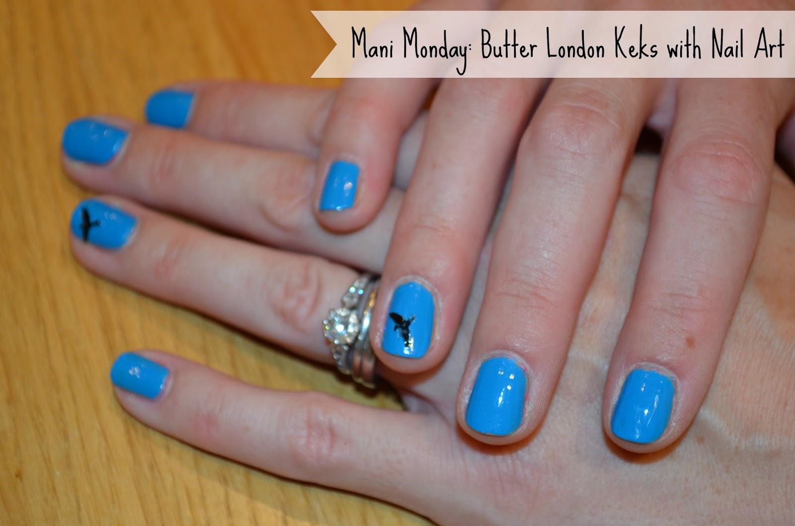 Mani Monday Butter London Keks And Nail Art Birds Blog Me Beautiful