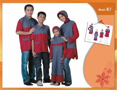 KIRGYZ SARIMBIT Koleksi Busana Muslim Keluarga Merah