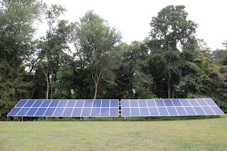 46 - 230W PV solar panels in 10.58 kW ground-mounted solar PV array