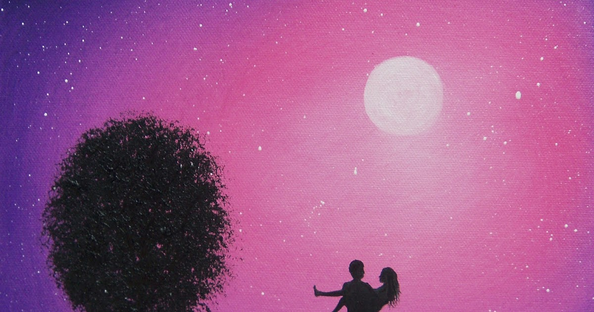 Art Rachel Bingaman Silhouette Couple Painting