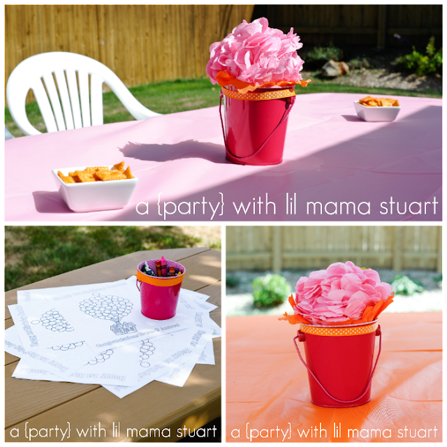 A day with lil mama stuart pink orange balloon party