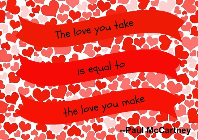 Love You Take Equal to the Love You Make