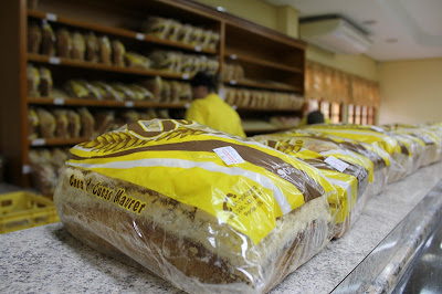 torrada de pão colonial da Casa de Cucas