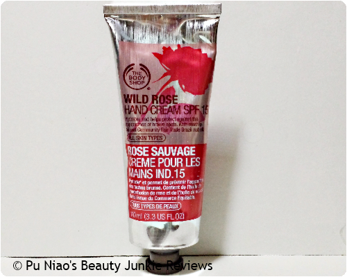 The Body Shop Wild Rose Hand Cream SPF15