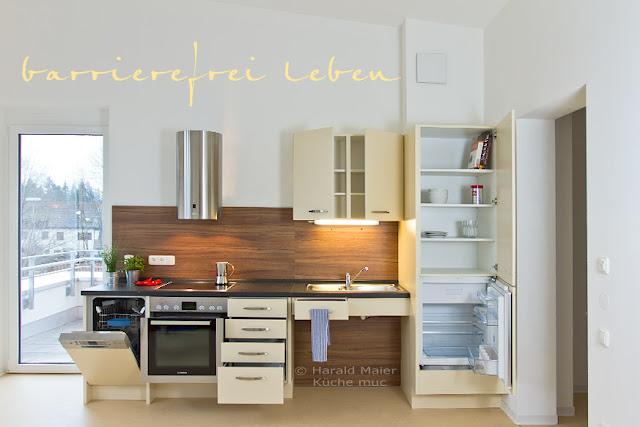Kleine Küche - viel Stauraum - altersgerecht, barrierefrei und rollstuhlgerecht