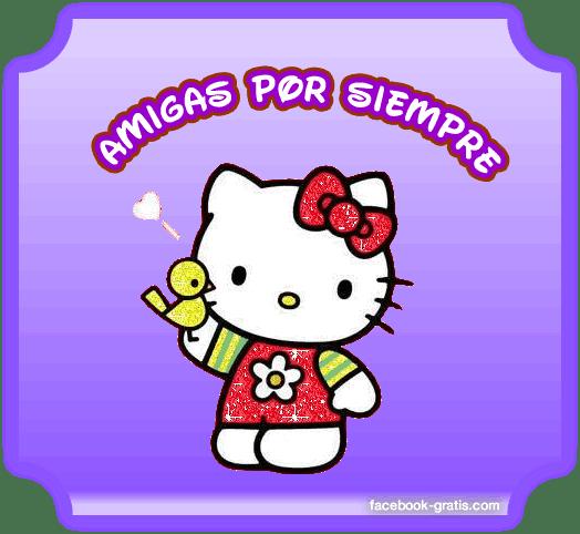 Tarjeta de amistad de Hello Kitty