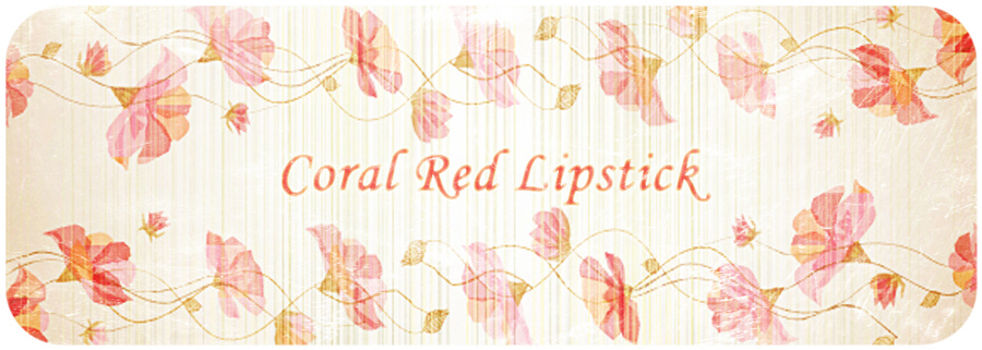 Coral Red lipstick