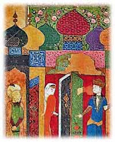 (an illustration of the Persian poem describing the Three Princes of Serendip, {PD-US})