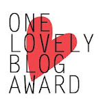 "Proud recipient of the ""One lovely blogger award"""