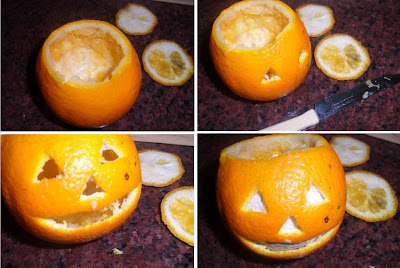 Paso a paso Minicalabazas de Halloween con naranjas