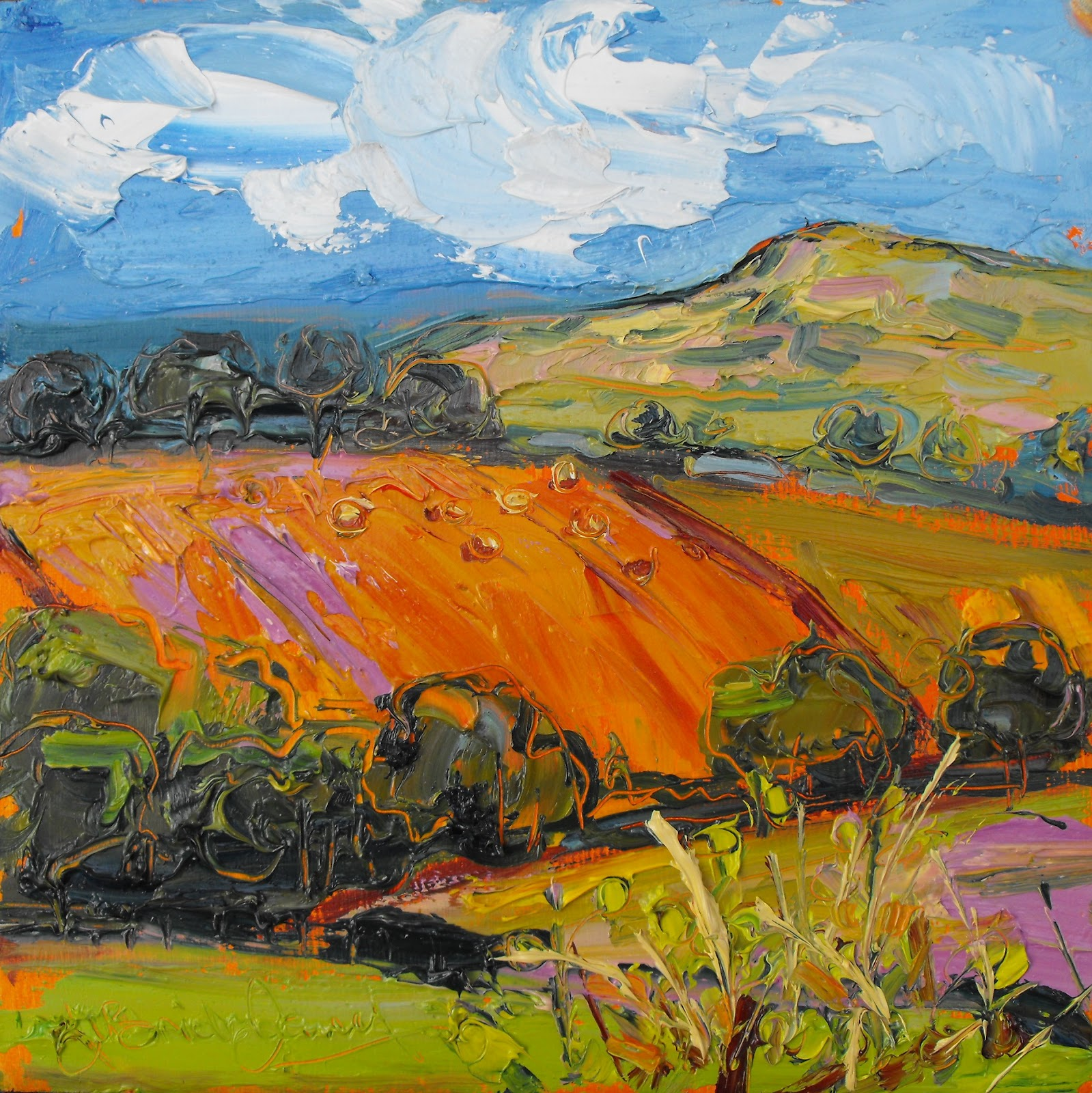 Judith I Bridgland Painting In Neath The Valleys And Powys
