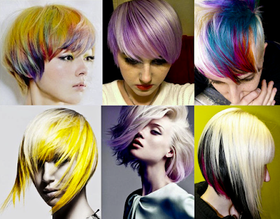 Model dan Warna Rambut Pendek Ombre