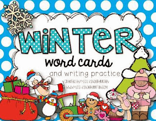 http://www.teacherspayteachers.com/Product/Winter-Word-Cards-and-writing-practice-927360