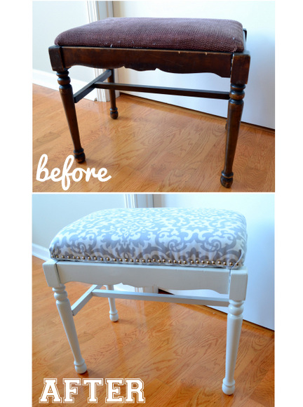 Before and after- transforming this old bench is easy