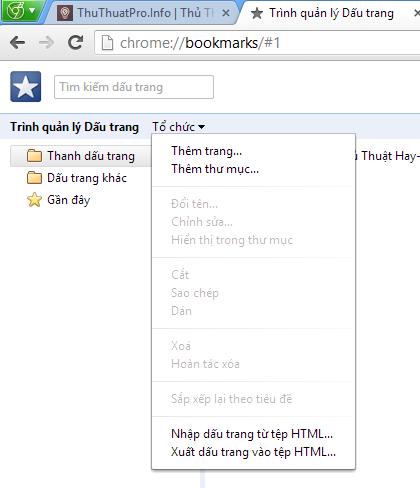 Hướng dẫn sao lưu chia sẻ Bookmark trên mọi trình duyệt