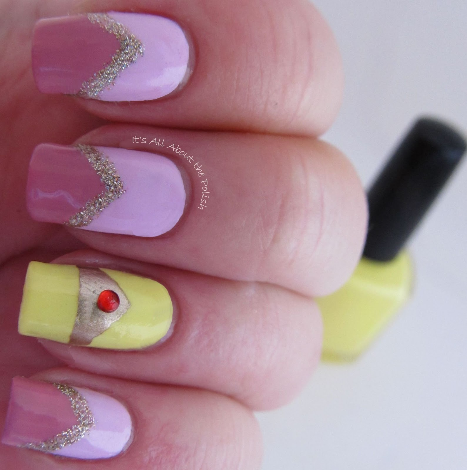 Sleeping Beauty Nails: It's All About The Polish: Disney Princess Challenge